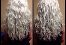 Silver Wavy & Curly / Amazing Silver - all natural hair color.