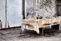 """SS 2016: Words Collection / Limited Edition handmade linens from Italy, designed by S&B...""""If it's not good enough to frame, it doesn't deserve to be one of our tablecloths"""" - The Summerill & Bishop Speech"""