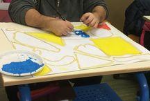 Laboratorio di pittura a tempera- progetto di potenziamento- A.S. 2016-7 .Docente referente: Pappalardo Valeria. / il progetto rivolto ad alunni con esigenze speciali, proponeva attraverso l'utilizzo della tecnica a tempera, la reinterpretazione delle opere dell'artista Mirò.