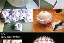 Paper Craft for Kids & Home / Think a round paper lantern is boring? Think again! It really is incredible what you can do with them.