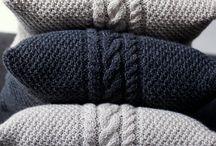 pletení - polštáře, deky