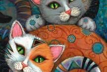 Ilustrações de Gatos