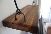 Prateleira com madeira