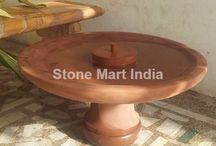 natural stone bird baths in India