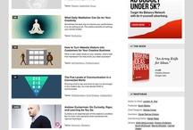 Magazine style websites