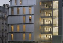 corridors on facade
