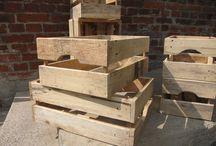 dřevěné bedýnky