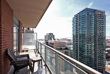 For Lease: 50 Lynn Williams St Unit 2108 / 600 sq ft 1 bedroom condo for rent in the heart of Liberty Village, Toronto. Sub penthouse unit with stunning views of the lake / by Realty Queen TO