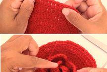 Crochet giant rose