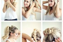 DIY hair tutorials and hairstyles. / I run a blog with DIY&tutorials about everything: Hair, nail, make-up, clothes, baking, decorations and much more! My blog adress is: tuwws.blogspot.se