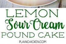 Cakes lemon cake