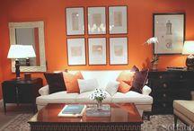 Orange, Brown and White