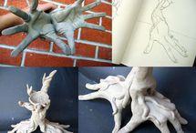 random | hand sculptures