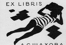 TIMBRI EX LIBRIS / Raccolta di immagini di Ex libris. Idee  per timbrifici ed amanti della lettura