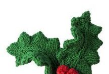 knitted holly leaves