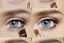 макияж- голубые глаза