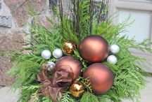 karácsonyi kinti dekor