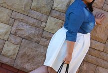 Blue Hue / Styling a Denim Shirt with a Midi Skirt