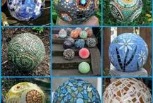 Bowling ball art and Mosaics / by Kathy Cruz