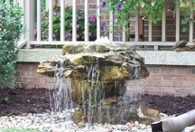 Bubbling Landscape Fountains / An Outdoor Fountain designed alongside a patio or deck can add a whole new dimension to any outdoor environment. We offer Garden Landscape Fountain Design, Installation, Repair, & Maintenance Services for Central Kentucky including the Lexington, Richmond, Danville, Nicholasville, Versailles, Georgetown, Somerset & surrounding communities.---- Contact us or visit our website to learn More about Landscape Garden Fountains---(888) 297-6637--- www.h2odesignsinc.com