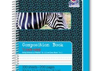 School Supplies / Composition books, folders, and more.
