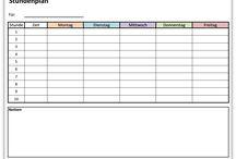 Schule und Bildung / Hier findest du eine Stundenplanvorlage oder einen Hausaufgabenplaner.