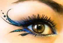 blaues Augen-Make-up