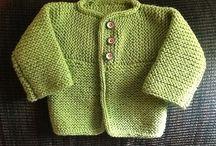 pletené a háčkované svetříčky děti