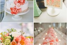 Coral Wedding / Bright and cheerful, coral is a perfect summer wedding color! coral wedding / coral wedding ideas / coral wedding inspiration / coral weddings / coral corsage / coral centerpieces / coral and succulent centerpieces / coral rose petals / coral altar / coral wedding chairs / wedding chair decor / wedding balloons / coral and navy wedding / coral bridesmaid dresses / coral wedding cake / coral wedding paper / coral wedding jewelry / centerpiece ideas / wedding inspiration / rustic coral wedding