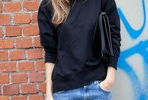 Black sweatshirt outfit
