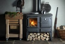 Range cooker stoves / Wood fueled range cookers. Stoves for kitchens