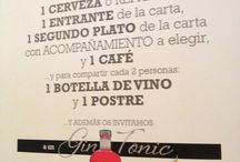 Reto 30 / Una cerveza o refresco Un entrante de la carta Un segundo plato de la carta Un café Y para compartir: Una botella de vino cada dos personas Un postre cada dos personas Además de un gin tonic