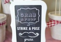 Strike a Pose / Paper & Cake offers a full range of Printable and off the Shelf Photo Booth Props for all occasions!