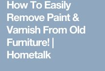 Remove paint and varnish