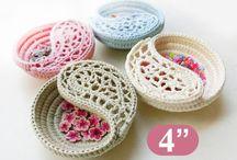 (4) Name: 'Crocheting : Crochet basket, yin yang Jewelry dish 4'