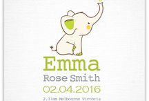 Name Prints / A collection of baby name print designs