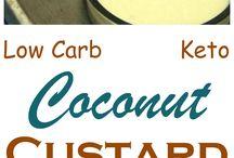 low carb custard