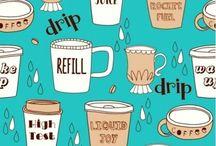 Caf-Fiend Coffee Crazy / Coffee Fabric Ideas