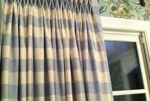 curtains and material / by Sherry Smith Lamb