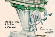 Vintage outboard engines