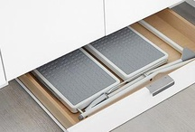 Kitchen toe kick drawers