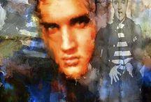 Elvis Presley Pop Art Canvas