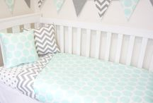 mint grey bedroom