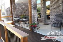 Composite Decks / Composite decking is an ever growing trend in outdoor construction. It gives a feel of spacious house and add value to your home. Here are some of the samples of composite decks built by Diamond decks.