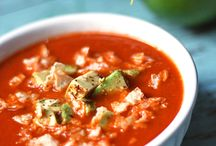 Hot/Raw Soups,Chili / quinoa sweet potato chili, Tomatillo avocado soup, creamy broccoli, creamy cauliflower, Sweet potato macadamia nut / by Julie Davidson