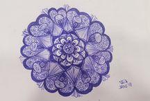 Mis mandalas y dibujos de zentangle art / Mandalas & Zentangle art