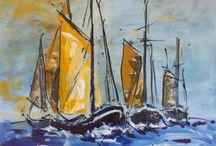 Sailing boats paintings / Energy, movement, strength and colour captured in paintings....
