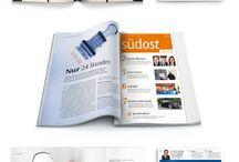 Mitarbeiterkommunikation - print und online / was wir machen oder gemacht haben und auf was wir stolz sind