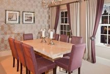 Inviting Aubergine Dining Room / Create an inviting space to entertain in.