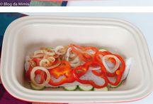 peixe assado c legumes